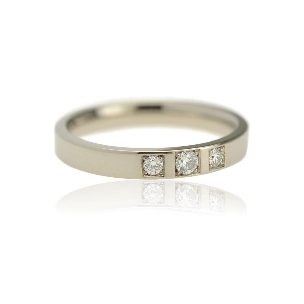 Witgouden Ring Met Diamanten Pave Gezet